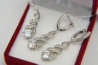 Комплект серебряных украшений - подвеска и серьги  , фото 1