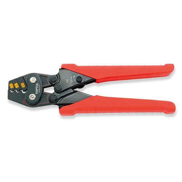 Клещи для обжимки клемм с трещоткой 1, 25-2-3, 5 кв.мм L170мм, DKBB2307 TOPTUL
