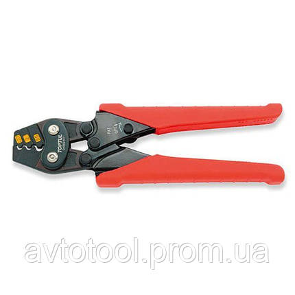 Клещи для обжимки клемм с трещоткой 1, 25-2-3, 5 кв.мм L170мм, DKBB2307 TOPTUL, фото 2