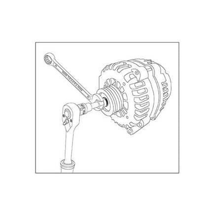 Набор для снятия шкивов генераторов 13 ед., JGAI1301 TOPTUL, фото 2