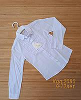 Школьная блуза с жабо для девочек 9-12 лет.Оптом. Турция. (2080)