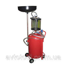 Установка для слива и вакуумной откачки масла с мерной колбой (80л.), B8010KVS G.I.KRAFT