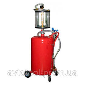 Установка для вакуумной откачки масла с мерной колбой (80л.), B8010KV G.I.KRAFT