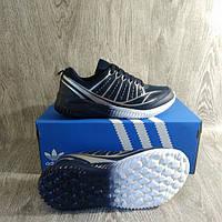 Спортивные кроссовки синие , сетка