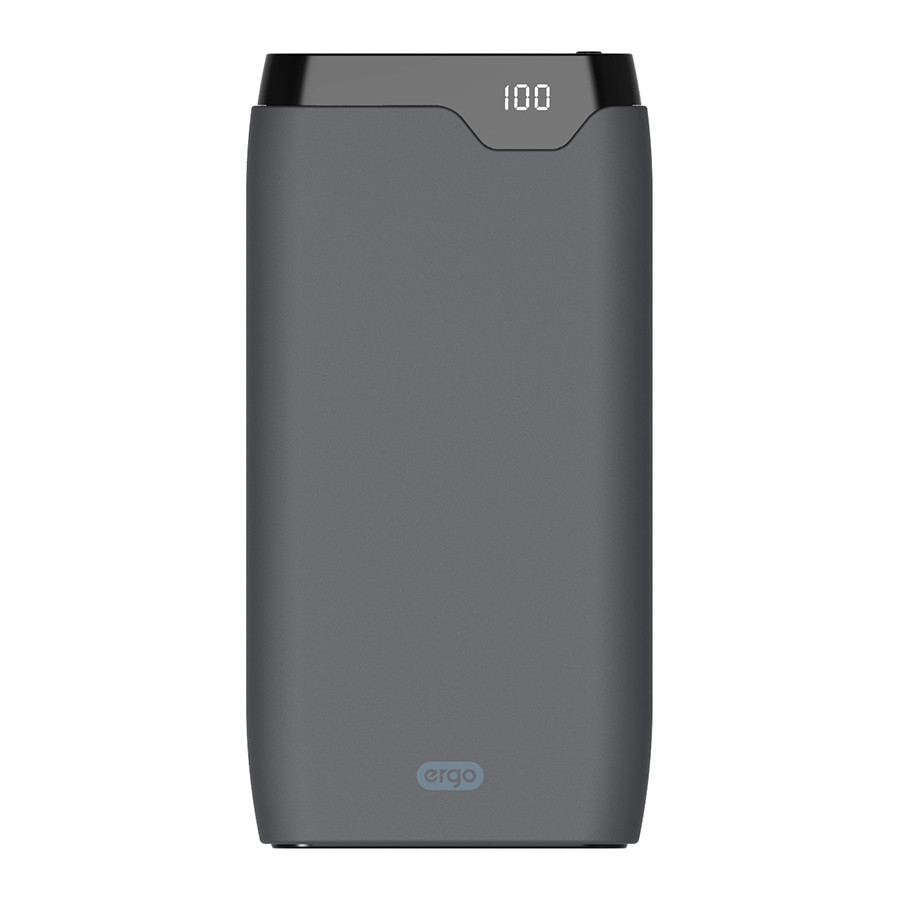 Внешний аккумулятор Ergo LP-K10 Type-C (10000mAh) Rubber Gray