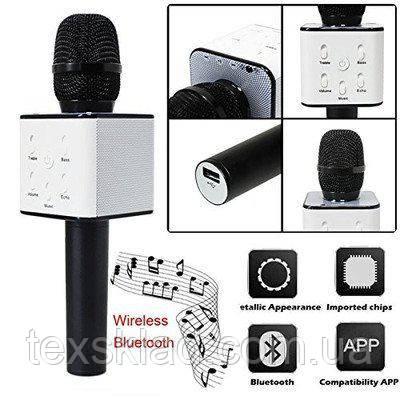 Караоке-мікрофон Q7 Black (USB/Bluetooth)