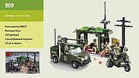 """Конструктор Brick """"Военная база"""" 285 деталей, в коробке (ОПТОМ) 809"""