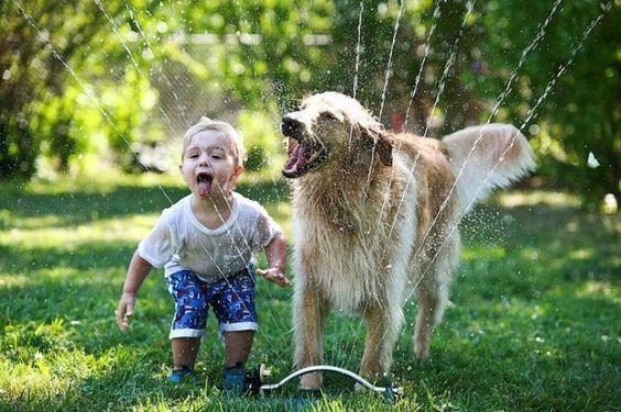 Ребёнок и собака Картинка 1.