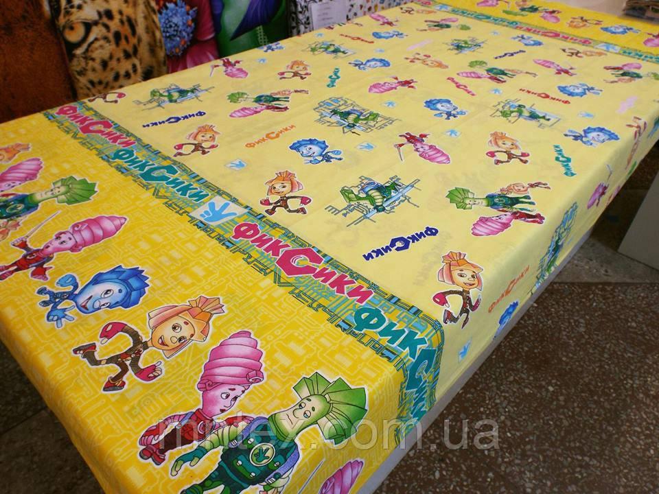 Ткань для пошива постельного белья бязь голд Фиксики на желтом