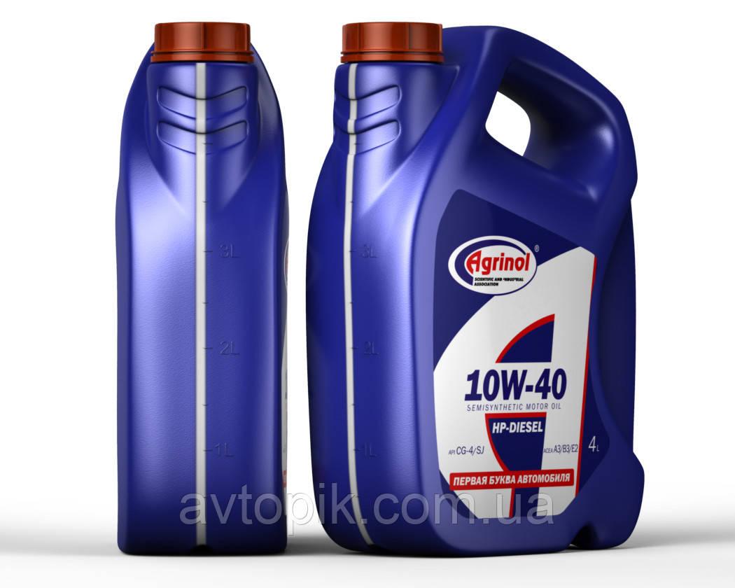 Моторное масло Agrinol HP-Diesel CG-4/SJ 10W-40 (4л.)