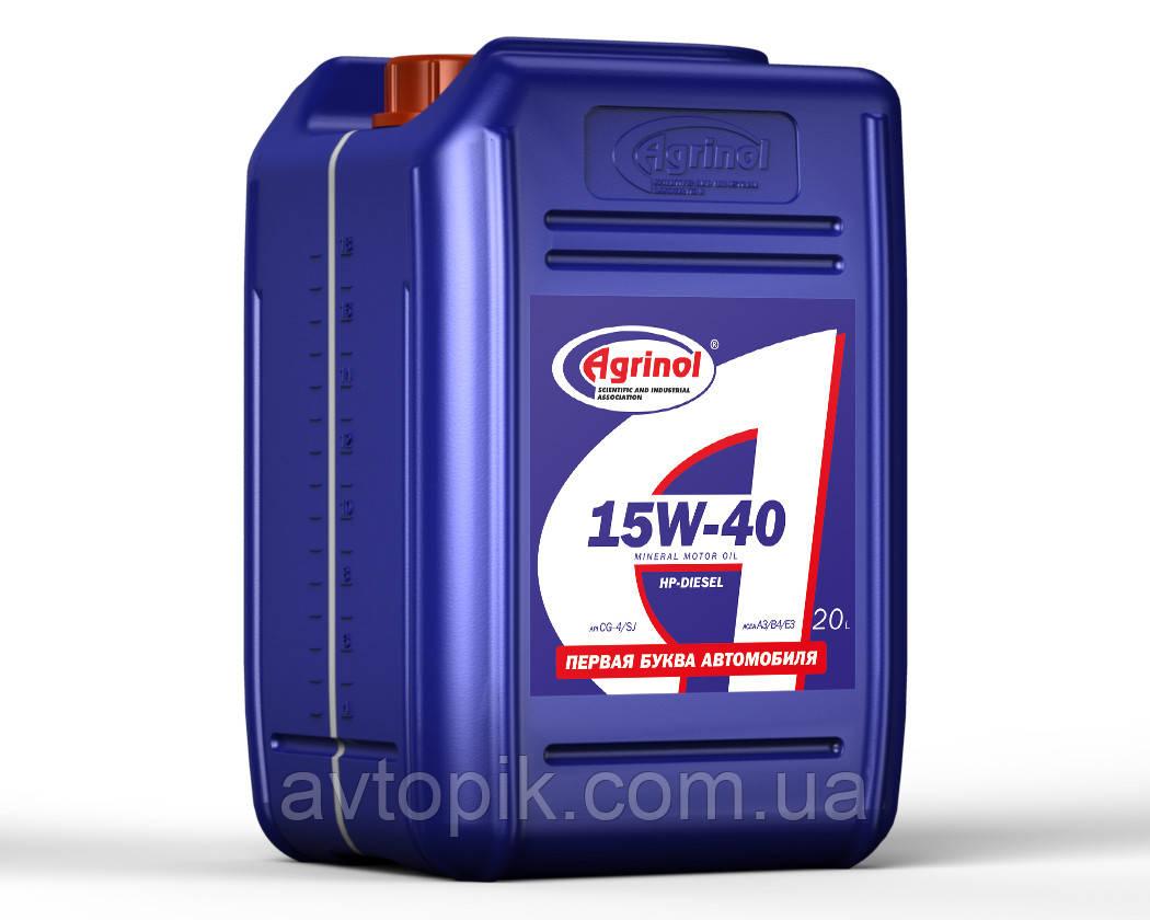 Моторное масло Agrinol HP-Diesel CG-4/SJ 15W-40 (20л.)