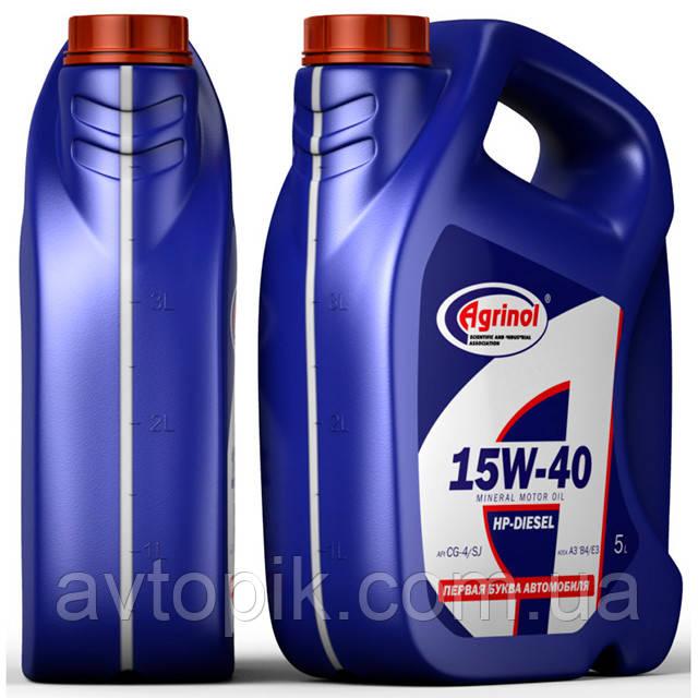 Моторное масло Agrinol HP-Diesel CG-4/SJ 15W-40 (5л.)