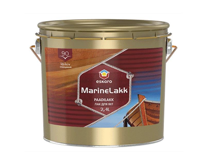 Лак алкид-уретановый ESKARO MARINE LAKK 90  яхтовый 2,4л