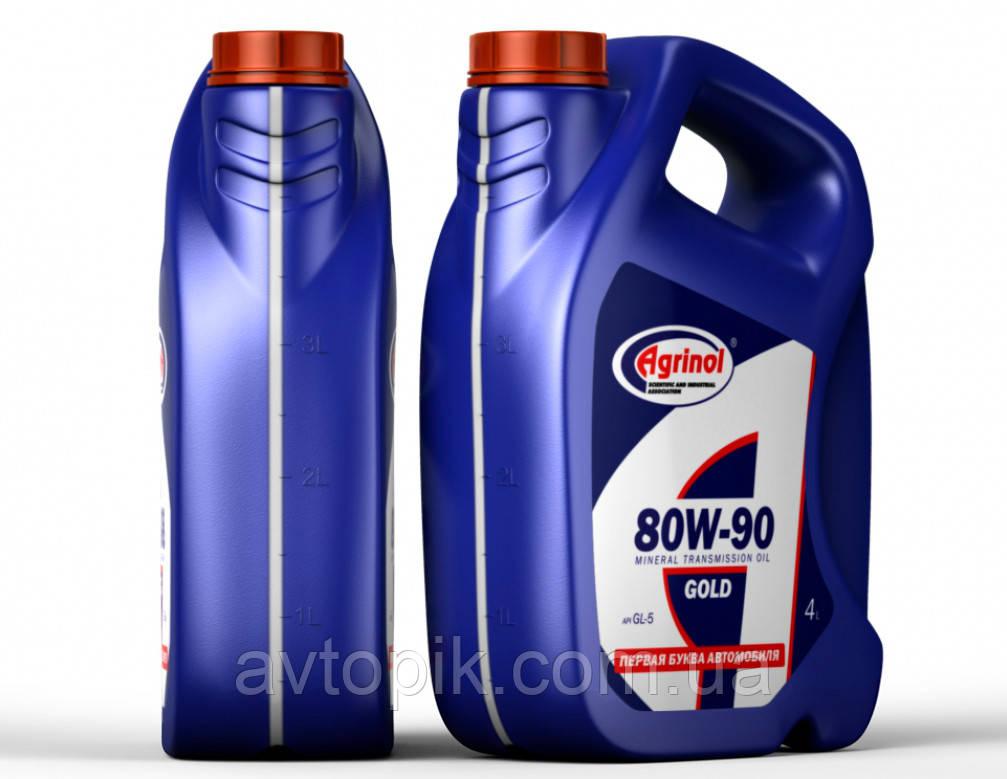 Трансмиссионное масло Agrinol Gold GL-5 80W-90 (4л.)