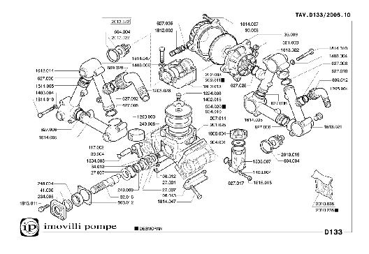 Насос мембранно-поршневой D-133 фирмы Imovilli pompe (Италия), фото 2