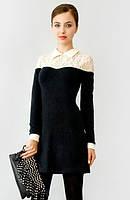Зимние теплые трикотажные платья оптом и в розницу