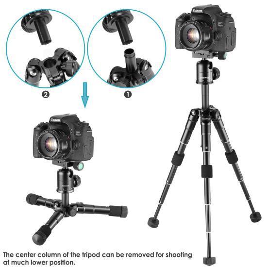 Штатив для фотоаппарата NEEWER компактный 13,5-50 см +360-градусная шариковая головка