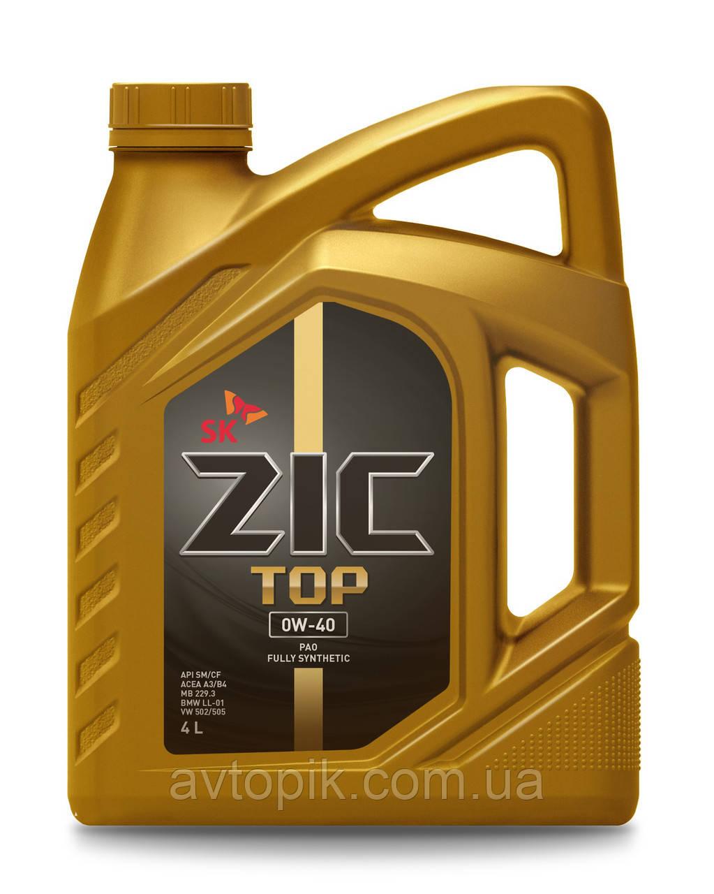 Моторное масло ZIC Top 0W-40 (4л.)