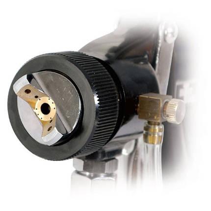 HVLP BLACK PROF Краскопульт 1.5мм, нижн.мет.бачок регулируем. (PT-0214 Intertool), фото 2