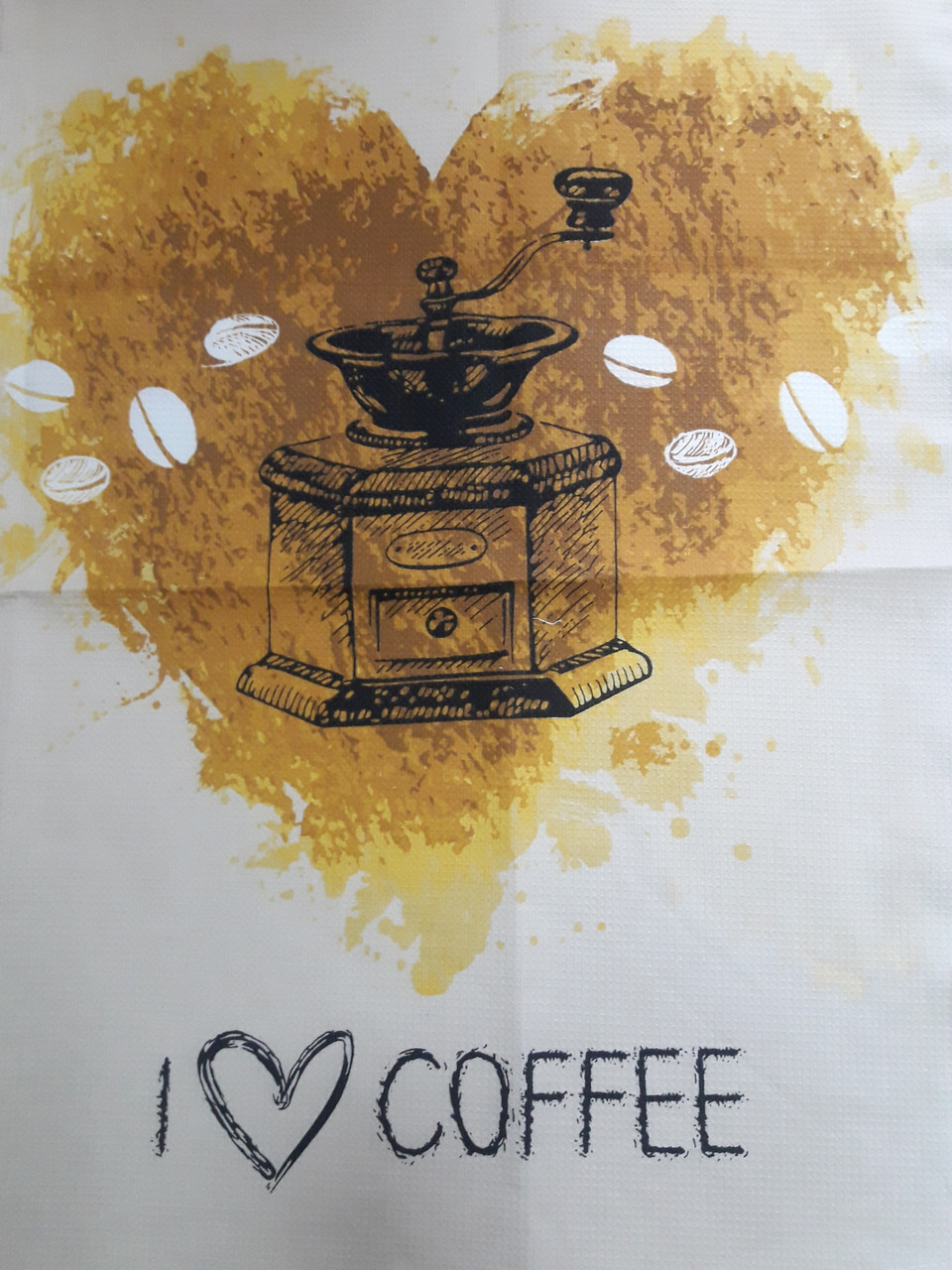 Полотенце вафельное Кофемолка