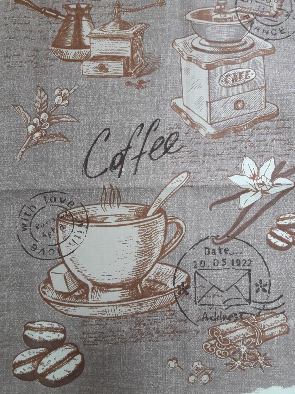 Полотенце вафельное Кофе Корица