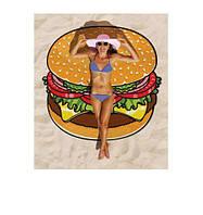 Пляжный коврик  Гамбургер   Пляжный коврик полотенце парео Фламинго мандала