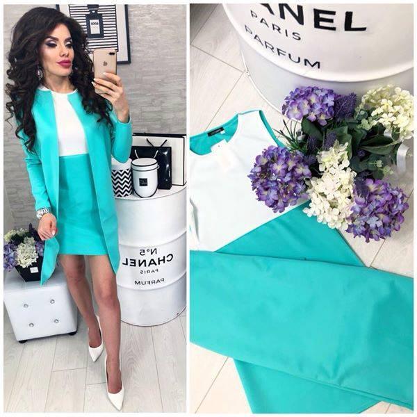 63aa81aa4d9 Костюм двойка пиджак кардиган + платье - Інтернет-магазин жіночого одягу  Feshion-ledi в