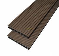 Террасная доска ДПК Gamrat  160х25х3000мм цвет темно-коричневый