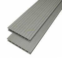 Террасная доска ДПК Gamrat  160х25х3000мм цвет серый