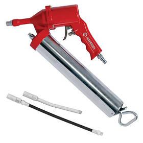 Пистолет для выдавливания смазки пневматический + две насадки (PT-0607 Intertool)