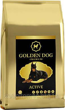 Корм для активных собак GOLDEN DOG active 10 кг