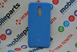 Оригинальный Силиконовый Чехол для Xiaomi Redmi 5 Silicone Cover (Синий)