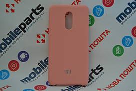 Оригинальный Силиконовый Чехол для Xiaomi Redmi 5 Silicone Cover (Бледно розовый)