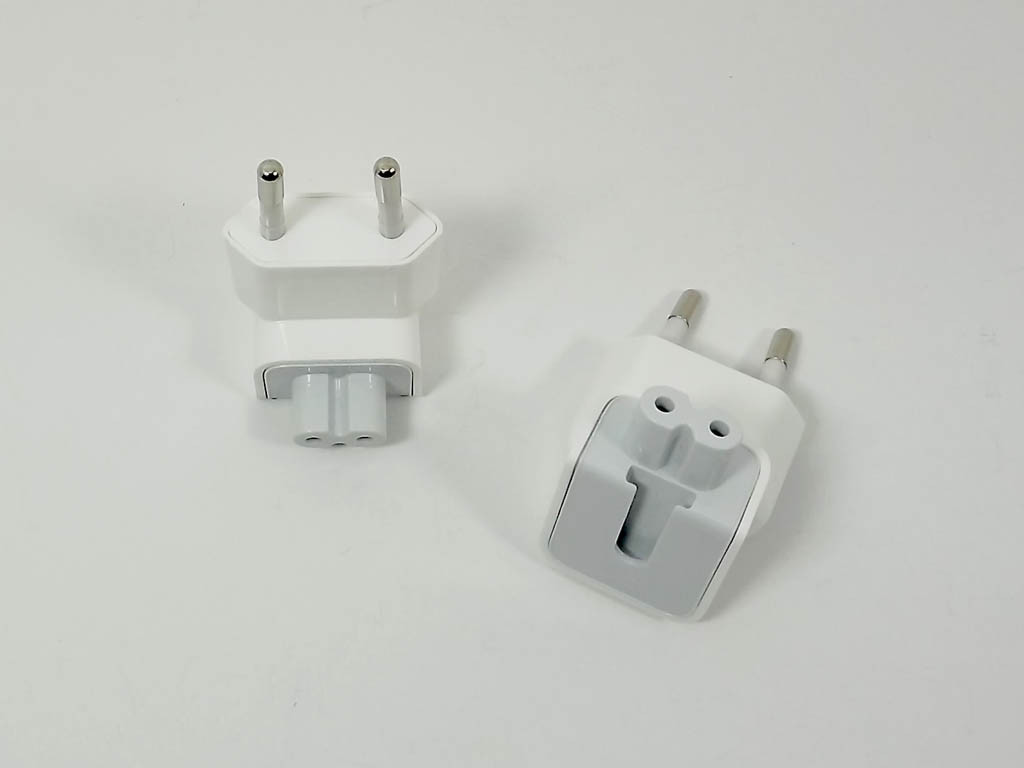 Вилка переходник для блока питания Apple Magsafe 220V под евро розетку