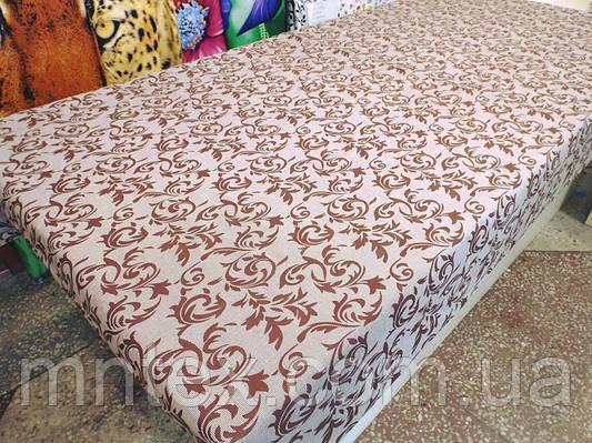 """Ткань для пошива постельного белья бязь голд Жаккард беж / """"Чарівна Ніч"""""""