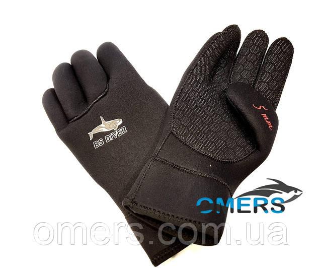 Перчатки BS Diver Ultrablack 7 мм открытая пора