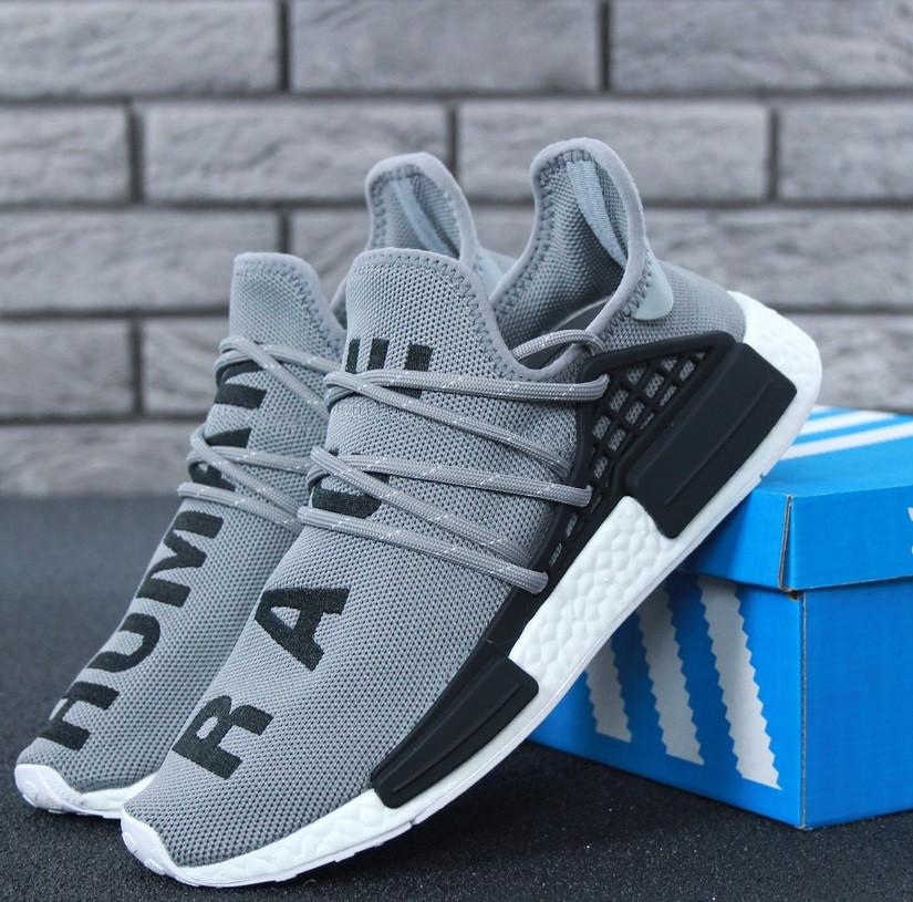 Кросівки Adidas NMD Pharrell Williams x 'Human Race' Grey. B Живе фото (Репліка ААА+)