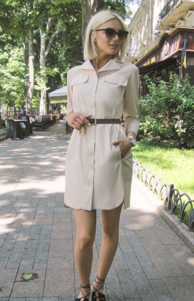 Модное летнее платье рубашка