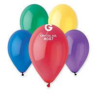 Воздушные шарики Gemar G110  Кристалл Ассорти 12' (30 см), 100 шт