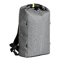 Рюкзак Bobby Urban  от XD Design. Увеличение объема roll top, система анти-вор. P705.642 Lite grey