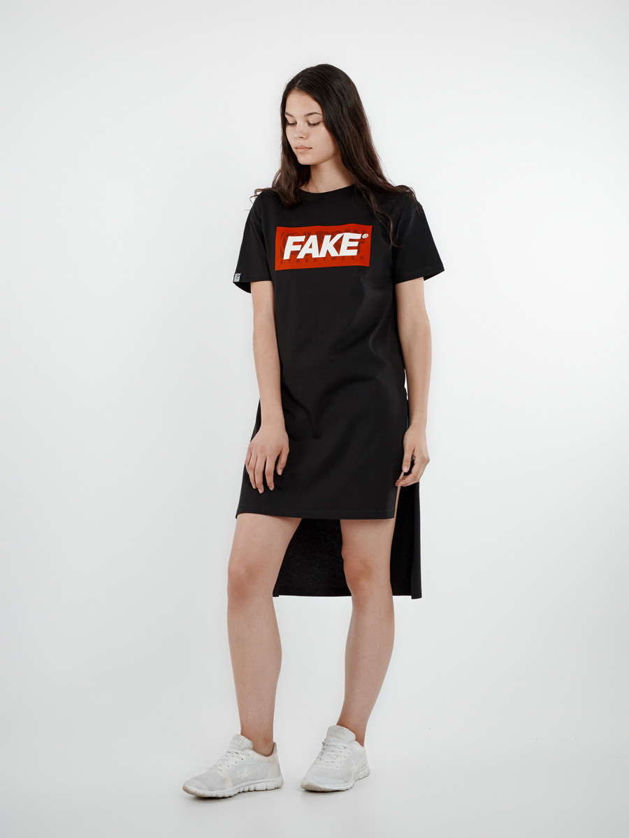 Платье туника женская ORIGINAL FAKE Urban Planet (модное платье, платт
