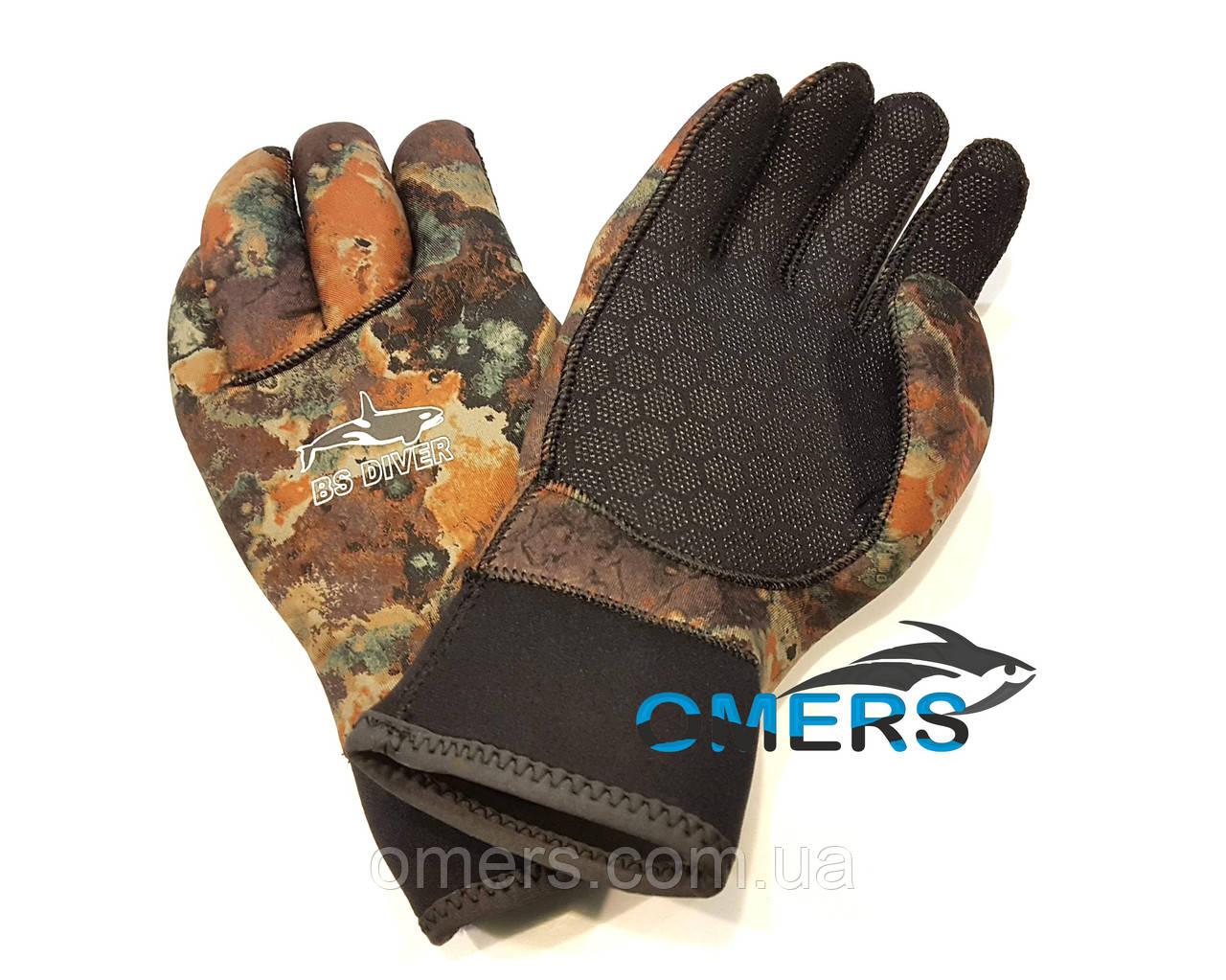 Перчатки BS Diver CAMOLEX Brown 5 мм для подводной охоты