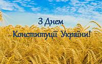 Поздравляем всех с Днем Конституции Украины!