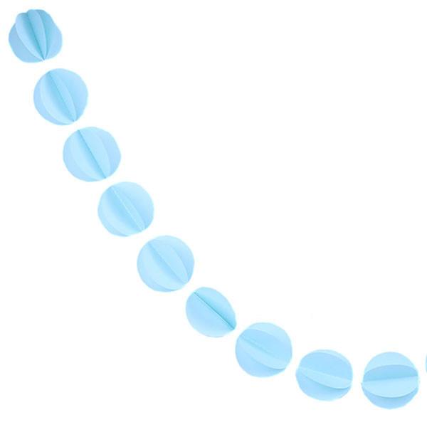 Гирлянда бумажная 3D Шарики (голубой)