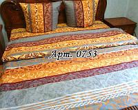 Комплект постельного БЯЗЬ в классическом стиле бежевых тонов 0753
