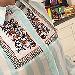 Женская стильная удлиненная рубашка в полоску с вышивкой (3 цвета), фото 6