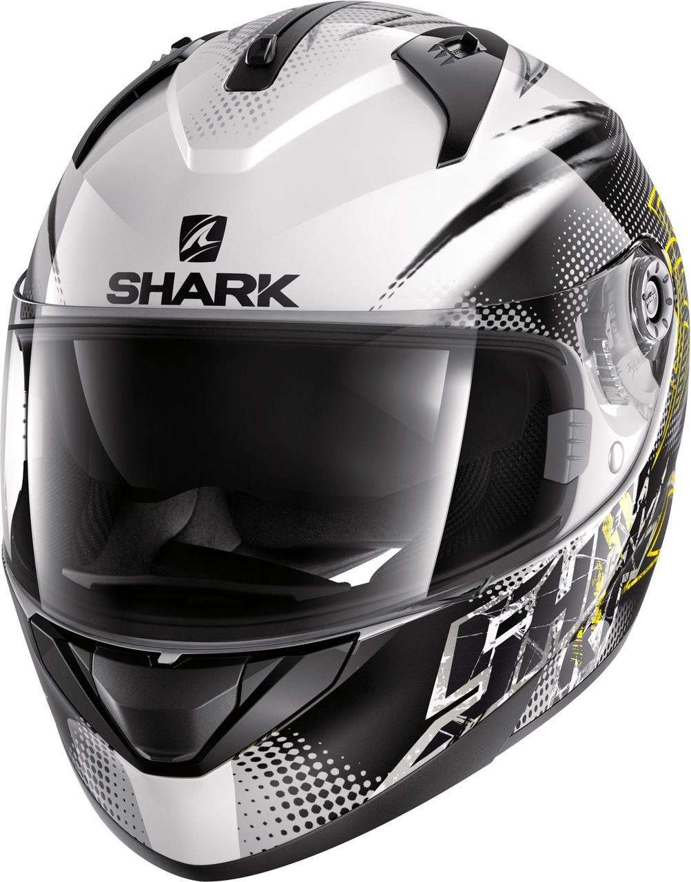 Шлем Shark Ridill Finks р.L, черно-белый