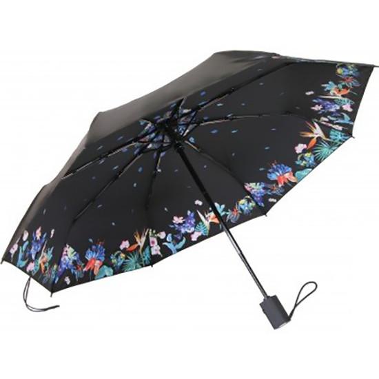 Зонт складной автомат Remax RT-U3 Flower Warbler Черный
