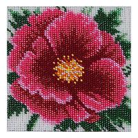 """Cхема для вышивки бисером  """"Китайская роза"""" Т-0420"""