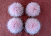 Малый помпон (бубон) из натурального меха (5-6 см)